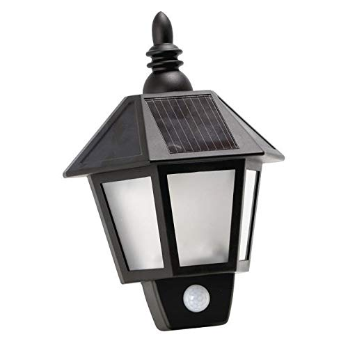 Solarline 403576 wandlamp, op zonne-energie, zwart, 10 x 20 x 28 cm