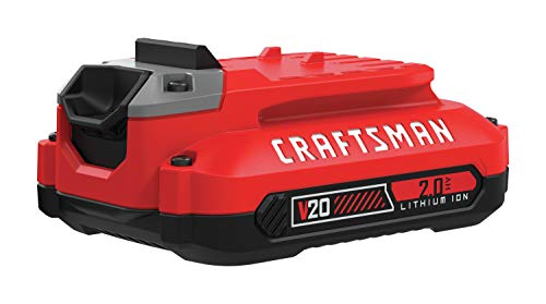 CRAFTSMAN 20V MAX Lithium Ion Battery, 2.0-Amp Hour (CMCB202),black and red