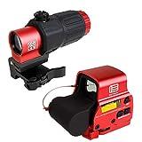 ANS optical XPS3タイプ ドットサイト & G33-STSタイプ 3倍ブースター セット RED 赤 マグニファイア QDレバー 20mmレイル対応