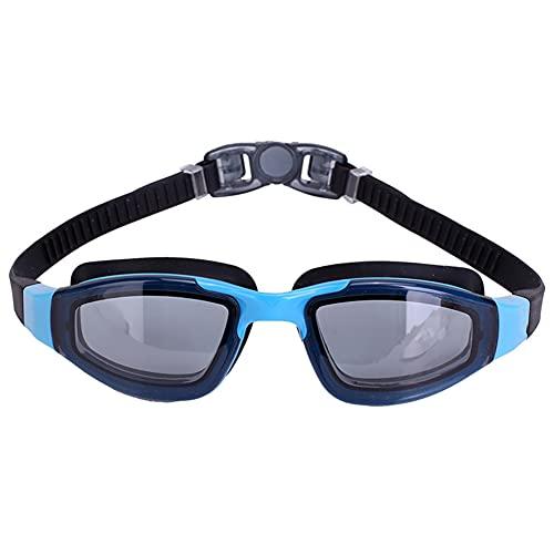 Nwanfeng Gafas de natación, Gafas de natación para Hombres Mujeres Jóvenes Niños Niño, Triatlón Piscina Gafas con Lentes de Espejo y Claro contra la Niebla protección UV, ningún escaparse,Azul