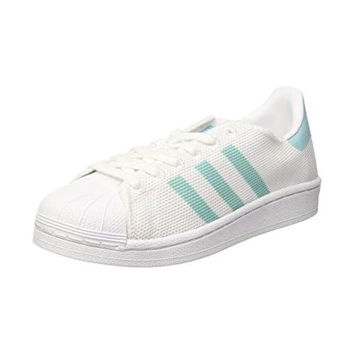 adidas Superstar W, Scarpe da Basket Donna, Bianco (Footwear White/Easy Mint Footwear White/Easy Mint), 38 EU