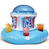 Icee Floating Inflatable Cooler Float with Zippered Compartment for Ice - Inflatable Coolers for Parties to Keep Your Drinks ICY Cold This Summer