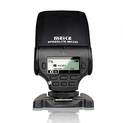 Meike MK-320C Speedlite Flash TTL para cámara Canon sin Espejo DSLR Hot Shoe Series 1D Mark Series 1DS Series 5D Mark II 5D Mark III 5D 6D 7D Mark II 50D 60D 70D 100D 550D 600D 700D 1000D 1100D, etc.