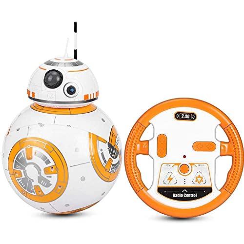 LHFD Star Wars BB8 Robot 2.4G Robot di Controllo remoto Intelligente Star Wars Aggiornamento RC BB8 Robot con Musica Suono Action Figure Giocattoli Regalo
