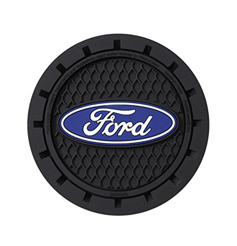 Plasticolor 000651R01 Ford Oval Auto Car Truck SUV Cup Holder Coaster 2-Pack