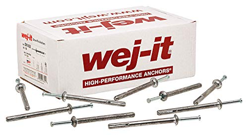 MECHANICAL PLASTICS CORP - 100-Pack 1/4 x 1-1/4-Inch Nail Anchors