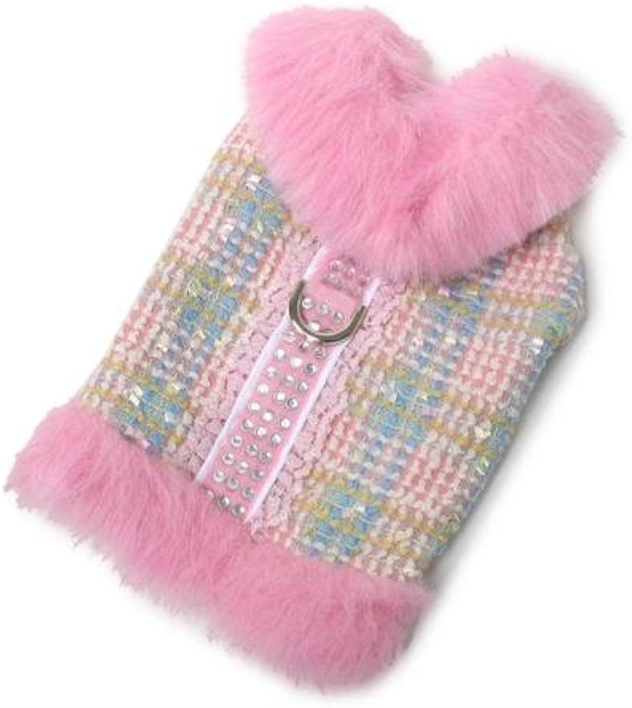 Aubrey Fur Coat Dog Harness  Pink