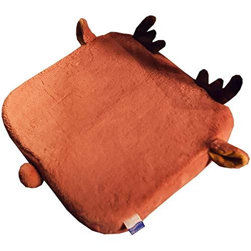 Kpcxdp Cojín para Silla de Oficina, cojín para Silla Super Suave y Duradero, cojín Extra Grueso para Soporte Lumbar, Asiento cómodo, Transpirable y de fácil Cuidado marrón 40x40cm