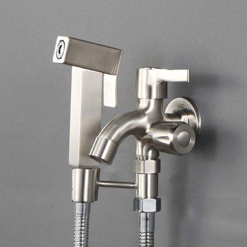 Hlluya Professional Sink Mixer Tap Keuken Kraan RVS Punch-vrije primer-douche kraan toilet spuitpistool onder druk sprinkler kit schoon, spoelen met water.