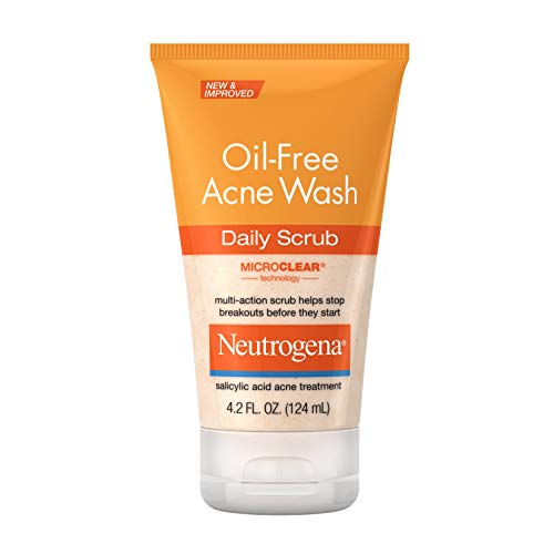 Neutrogena Oil-Free Acne Face Scrub, 2% Salicylic Acid Acne Treatment, Daily Face Wash to Prevent Breakouts, Oil Free Exfoliating Facial Cleanser for Acne-Prone Skin, 4.2 fl. oz