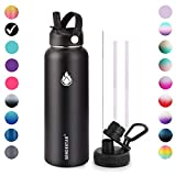 Sendestar Stainless Steel Water Bottle - Double Wall Vacuum Insulated Leak Proof, Keeps Liquids Hot...