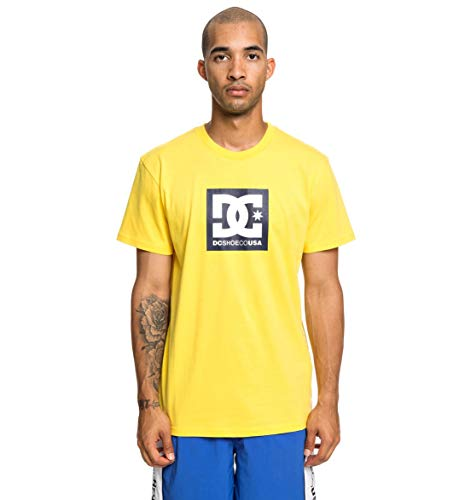 DC Shoes Square Star Tee-Shirt Homme, Dandelion, FR : S (Taille Fabricant : Small)
