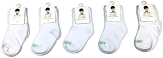 AFO Baby Socks, Crew Height - 5 Pack, Ideal for Pediatric AFOs, SMOs and Foot Braces