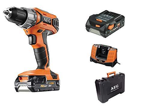 AEG 4935464101 Taladro Atornillador 18V-2x 1,5Ah LITIO-50Nm