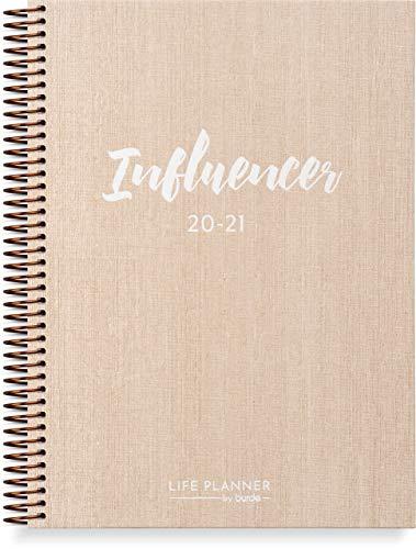 Influencer Planner - Schülerkalender 2020/2021 - Social Media Journal für Ihre Karriere als Influencer - Organisieren Social Media, gewinnen Sie Anhänger und bauen Sie Ihre Marke auf