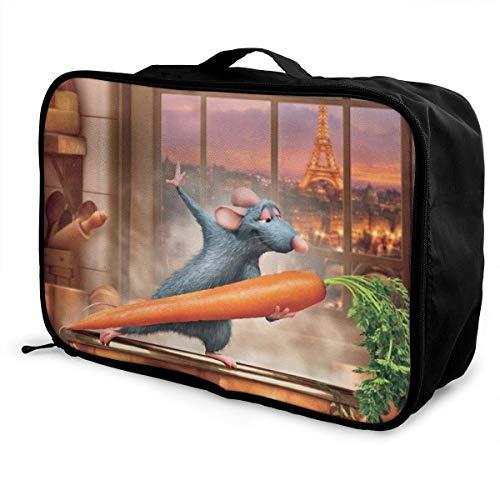 Ratatouille Unisex Reisetasche wasserdichte große Rucksackkapazität Reise Faltbare Reisetasche Tragbare Taschen