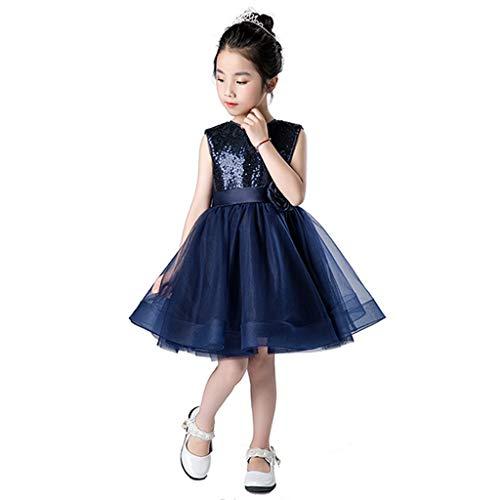 Jian E& Tanzkostüm Kostüme Kinder Prinzessin Kleid Mädchen Kleider Puff Garn Piano Performance Kindertag (Farbe : Blau, größe : Height140-150)