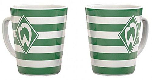SV Werder Bremen, Kaffeetasse, Kaffeebecher Streifen 0,3l.