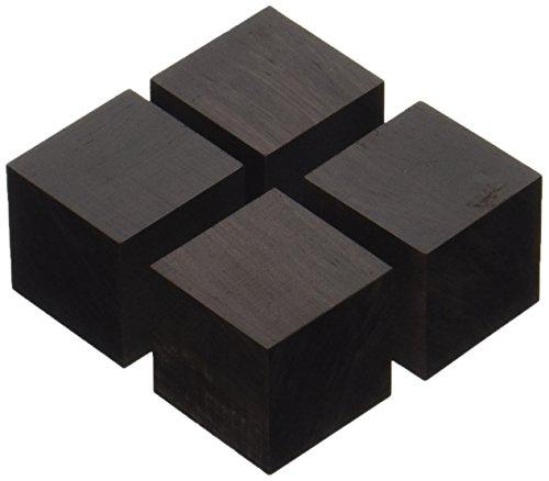 山本音響工芸 キューブベースアフリカ黒檀材(4個1組) インシュレーター QB-3