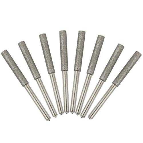 Burr Grinding Stone File, Chainsaw Sharpener, Chainsaw Sharpening kit, 8 Pack, Chain Saw Sharpening (5/32