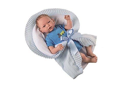 Munecas Guca 10012Pelo Especial Mario Reborn bebé muñeca en Cuerpo y Accesorios de Punto Azul, 46cm