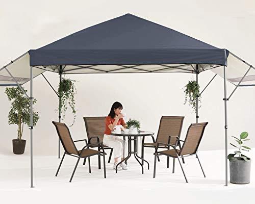 MASTERCANOPY 10x10 Pop-up Gazebo Canopy Tent with Double Awnings Dark Gray