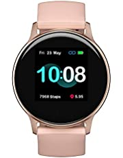 UMIDIGI Smartwatch Uwatch 2S, Fitness Tracker Horloge met Vrij te Kiezen Achtergrondafbeelding, 5 ATM Waterdicht Smartwatch met Hartslagmeter, Stopwatch, Stappenteller, Slaapmonitor voor Dames en Heren, Roze