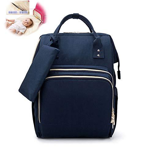 Doppelschulter Mami Tasche Multifunktions-Babytasche Mit Großer Kapazität Tragbare Kleine Kosmetiktasche Windel Babyrucksack,Blau
