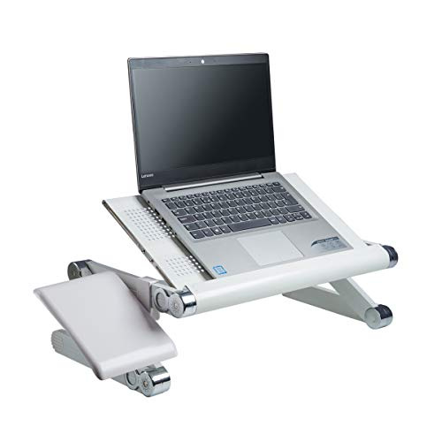 BackPainHelp Multifunktionaler Laptoptisch | Notebook, Tablet- & Laptop-Ständer | Tragbar, Ergonomisch & Zusammenklappbar | Bis 50 kg | Aluminium-Konstruktion mit Lüftung | Für Büro, Schule & Zuhause