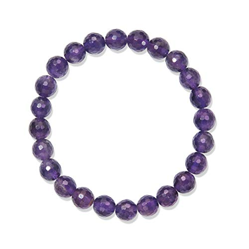 Chili Jewels Armband, Amethyst extra, 08mm Kugeln, facettiert