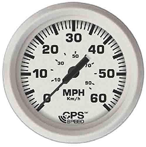 "Faria 33147 Dress Speedometer GPS Studded 4"" - White, 60 MPH"