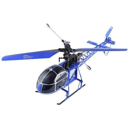 RC Helikopter MT 250 Lama, SA-315 Lama Luftrettung,2.4GHz, 4Kanal Hubschrauber Blau