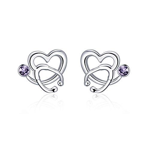 Sterling Silver Stethoscope Earrings