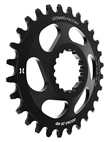 Leonardi Factory Gecko Cannondale Offset 6 Plato De Bicicleta, Hombre, Negro, 28