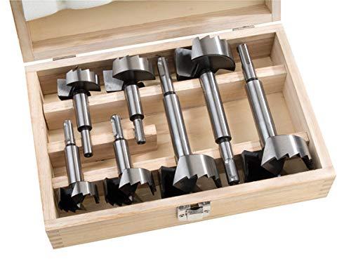 Forstnerbohrer Satz 35-54 mm Holzbohrer Set 7-teilig mit SDS-Plus-Aufnahme