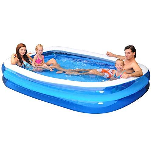 Zeraty Piscina hinchable, 120 x 72 x 20 pulgadas, piscina familiar hinchable para bebés, niños, adultos, niños pequeños a partir de 3 años, al aire libre, jardín, jardín