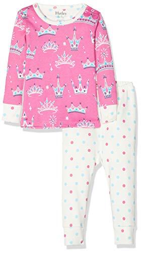 Hatley Mini Organic Cotton Long Sleeve Pyjama Sets Ensemble, Rose (Pretty Princesses 650), 6-9 Mois (Taille Fabricant: 6M-9M) Bébé Fille