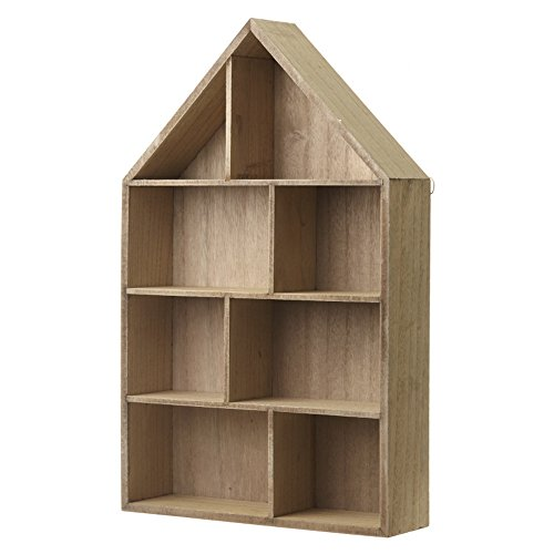 Heaven Sends - Mini scaffale in Legno a Forma di casa (30 x 50 x 8cm) (Legno)