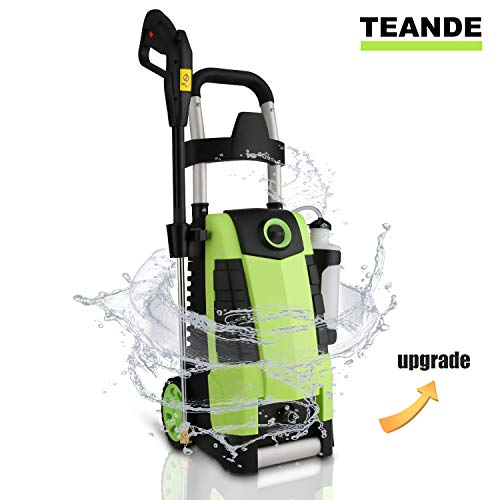 TEANDE 3800PSI Electric Pressure Washer, MAX 2.8GPM Electric Power Washer 1800W High Pressure Washer MR3800 (Green)