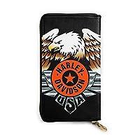 Harley-Davidson ハーレーダビッドソン 財布 メンズ 長財布 本革 セパレート型 小銭入れ 大容量 人気財布 一流の革職人が作る 薄型 ラウンドファスナー YKK 紳士