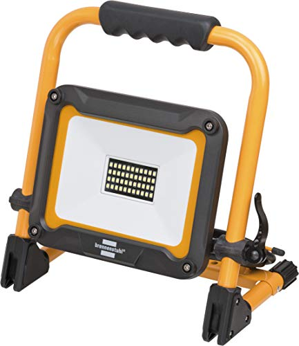 Brennenstuhl Mobiler LED Strahler JARO 3000 M / LED Baustrahler für außen IP65 (LED Arbeitsstrahler 30W mit 3m Kabel, LED Baustellenstrahler mit Schnellspannverschluss)