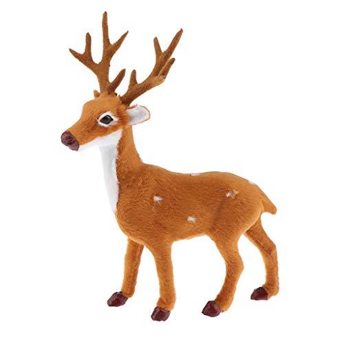 Fenteer Christmas Deer Reindeer Santa Craft Elk Xmas Home Tree Decor Ornament Gift - as described, C:21cm