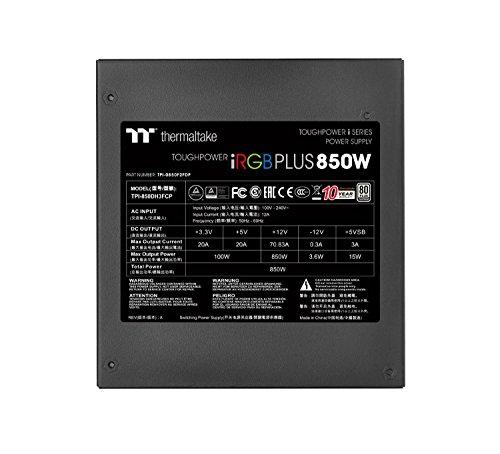 『Thermaltake TOUGHPOWER DIGITAL iRGB PLUS 850W -PLATINUM- 850W PC電源ユニット PS775 PS-TPI-0850F2FDPJ-1』の9枚目の画像