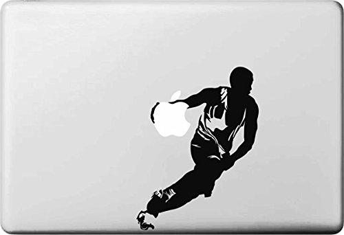 Vati Blätter Removable Kreative Karikatur-Basketball Star Aufkleber Aufkleber Skin Art Schwarz für Apple MacBook Pro Air Mac 13