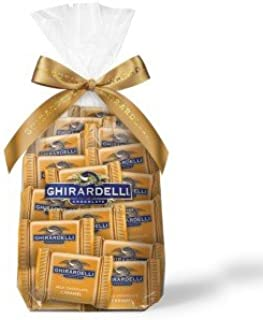 Ghirardelli Chocolate Squares Holiday Gift Bag - 80 Count (Milk Chocolate Caramel)