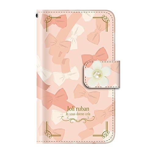 +S iPod touch 第5・第6・第7世代 手帳型ケース デコパーツ 花 リボン 蝶 ラブリー(白) PUレザー tmd0004-03