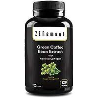 Extracto de Café Verde Natural con Garcinia Cambogia pura, 120 cápsulas, para perder peso, quemar grasas y disminuir el apetito, No GMO, 100% Natural