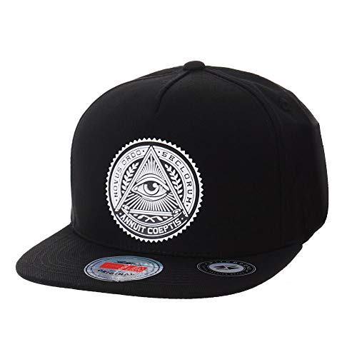 WITHMOONS Gorras de béisbol Gorra de Trucker Sombrero de Snapback Hat Illuminati Patch Hip Hop Baseball Cap AL2344 (Black)