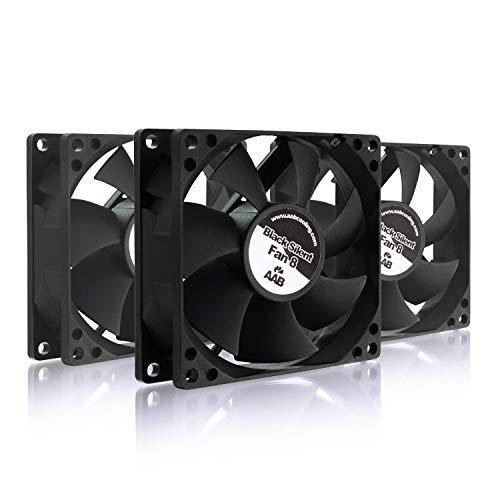 AABCOOLING Black Silent Fan 8 - Una Silenziosa e Molto Efficiente 80mm Ventola PC, Raffreddamento PC, 12V PC Fan, Ventola Aspirazione, 8cm, 3 Pin PC Fan, 50m3/h - 3 Pezzi 15,6 Db (A)