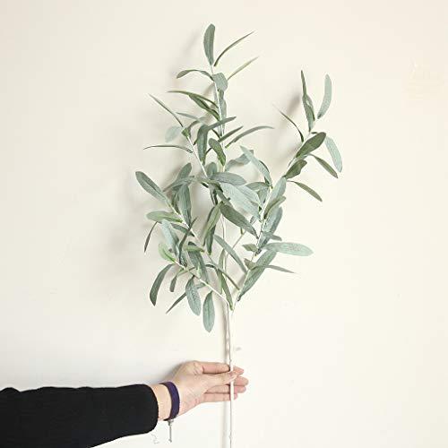 vijTIAN ramas artificiales de hojas de olivo verdes para decoración del hogar, ideal para...